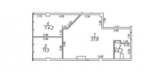 Планировки двухкомнатных квартир 69.3 м^2